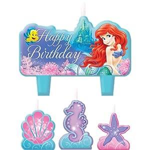 Amazon.com - Little Mermaid Mini Molded Candles (4) Ariel Ocean Girl