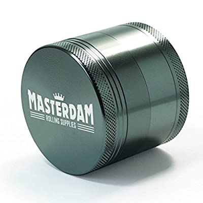 Masterdam Grinders Premium 4-Piece Herb Grinder with Pollen Catcher