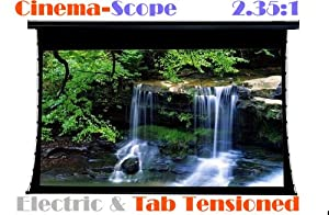 """PC106MET 106"""" CinemaScope 2.35:1 HD Projection Screen Tab-Tensioned Electric Moterised RF Remote"""