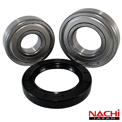 "Nachi High Quality Front Load Whirlpool Washer Tub Bearing and Seal Kit Fits Tub W10285625 (5 year replacement warranty and full HD ""How To"" video included)"