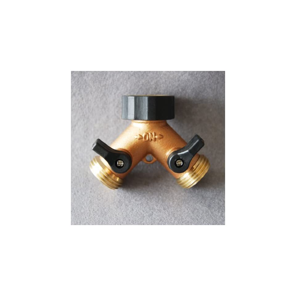 Aluminum and Brass Garden Hose Y Connector