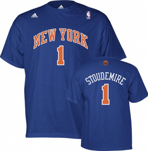 Amare Stoudemire adidas Blue Name and Number New York Knicks T-Shirt