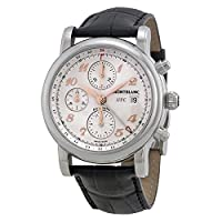 Montblanc Star Chronograph UTC Silver Dial Black Leather Mens Watch 110590 from Montblanc
