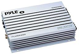 Pyle PLMRA200 400 Watt Bridgeable 2 Channel Waterproof  Marine/Car Amplifier