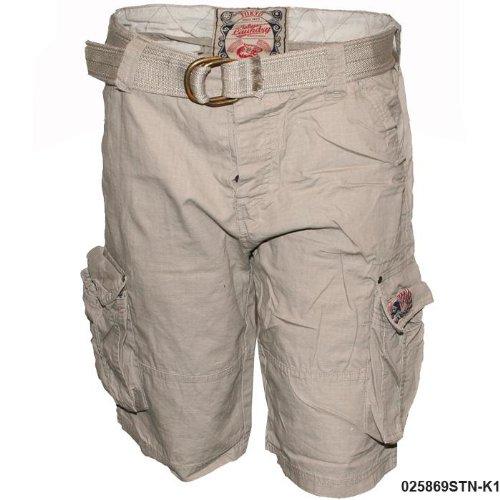 Mens Tokyo Laundry Stone Belted Cargo Shorts K1