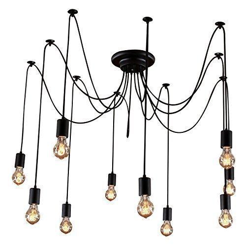 kronleuchter pendelleuchten deckenlampe h ngelampe h ngeleucht inklusive gl hbirne vintage. Black Bedroom Furniture Sets. Home Design Ideas