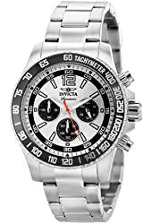 Invicta Men's Signature Watch: Stainless Steel Band, Silver Dial (7406)