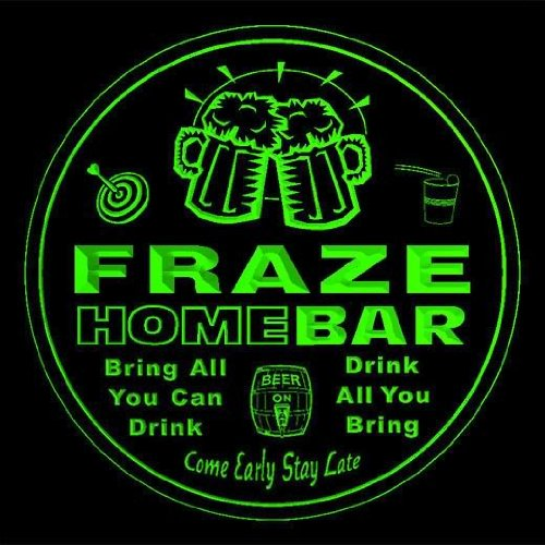 4x-ccq15256-g-fraze-family-name-home-bar-pub-beer-club-gift-3d-coasters