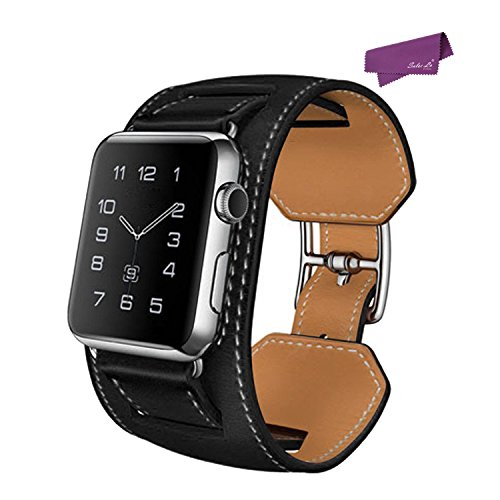 salesla-smart-watch-band-fur-apple-uhr-42mm-iwatch-bugel-echtes-leder-uhrenarmband-black
