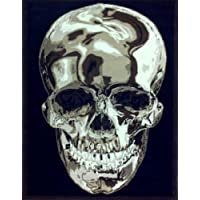 Skull Rug 5 Ft. 2 In. X 7 Ft. 3 In. Black Design #134