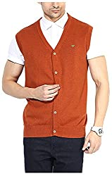 UV&W Men's Cotton Sweater (FWFK3333_XL_Burnt Orange, Burnt Orange X-Large)