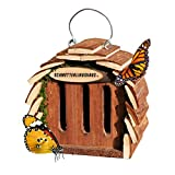 Gardigo Schmetterlingshaus zur Schmetterlingszucht und Gartendeko naturholzfarben