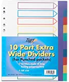 Tiger A4 10 part extra wide dividers for punched pockets x 1 set/pack
