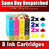 8 INK CARTRIGES FOR EPSON STYLUS SX535WD BX305FW SX425W SX435W SX445W PRINTER