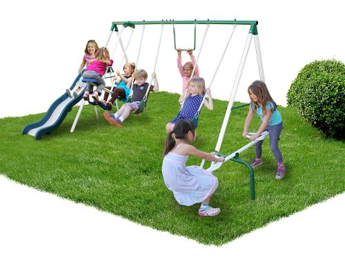 Sportspower Live Oak Metal Swing and Slide Set (Swing Sets For Kids compare prices)