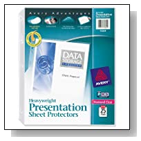 Avery Diamond Clear Heavyweight Sheet Protectors, Acid Free, Pack of 25 (75304)