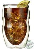 Ozeri Deutschland DW12S-4 Doppelwandiges Thermoglas Serafino mit Schwebeeffekt Glas, Set 4 x 0,35 L