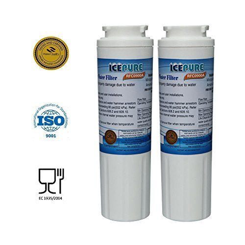 2 - Pack IcePure Water Filter to Replace Maytag, Amana, Kenmore, Jenn-Air, Whirlpool, Kitchenaid, UKF8001, UKF8001AXX, UKF-8001P, UKF9001, UKF9001AXX, 469006, 469992, 9005, 9006, 469030, 12527304, 4396395, WF295, WF50, SGF-M10 (Refrigerator Filter Kitchenaid compare prices)