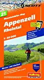 Mountainbike-Karte 21 Ostschweiz Appenzell (Rheintal) 1 : 50 000