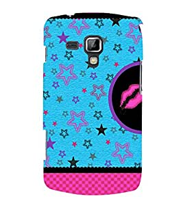Multiple Star Design 3D Hard Polycarbonate Designer Back Case Cover for Samsung Galaxy S Duos 2 S7582