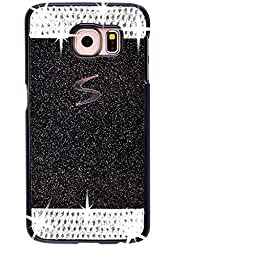 Galaxy S7 Edge Case,Inspirationc® eauty Luxury Diamond Hybrid Glitter Bling Hard Shiny Sparkling with Crystal Rhinestone Cover Case for Samsung Galaxy S7 Edge--Black Diamond