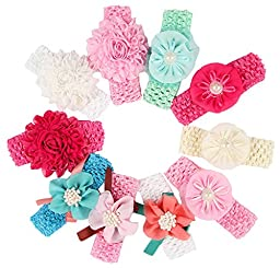Qandsweet Baby Girl\'s Beautiful Headbands (10pcs different colors)