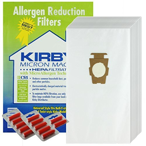 Kirby G10 G10E G10SE Vacuum Cleaner HEPA Dust Bags Pack Of 12 + 12 Fresheners (Kirby G10e Sentria compare prices)