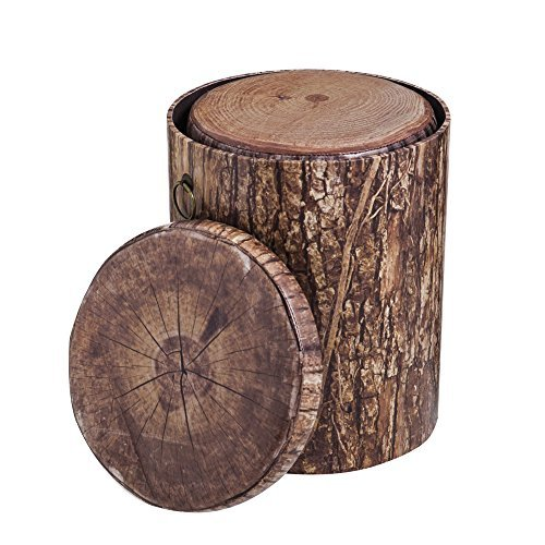 Cape Craftsmen Tree Bark Inspired Nesting Storage ceppi, set di 3