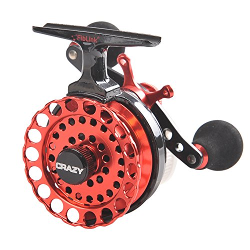 Best straight in line ice fishing reels cases and rod for Fishing line on reel