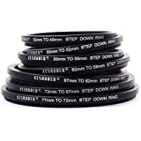 XCSOURCE® 77 72 67 62 58 55 52 49mm 7pcs Metal Step Down Rings Lens Adapter Filter Set For Canon Nikon DC69