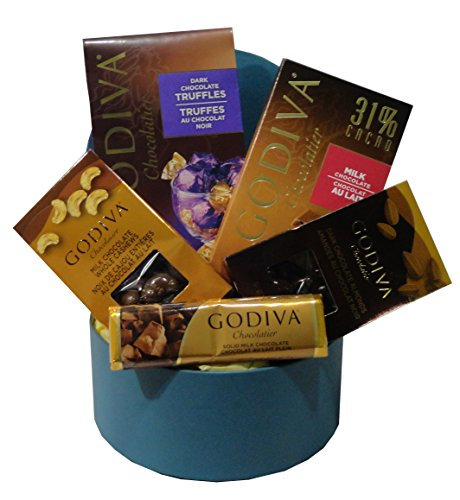 Choice Godiva Chocolate Gift Basket Blue