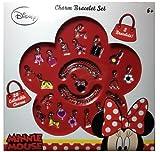 Minnie Mouse Kids Charm Bracelet Set: 2 Bracelets + 20 Collectible Charms