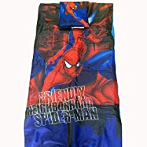 Spiderman Sleeping Bag 3 Piece Set - Slumber Sack, Tote Bag, And Pillow - Spiderman Sleeping Bag 3 Piece Set - Slumber Sack, Tote Bag, and Pillow