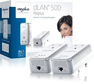 Devolo dLAN 500 AVplus (IEEE 1901/ HomePlug AV) Starter Kit - Pack of 2 Plugs