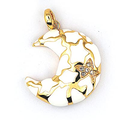 Moon and Stars 8GB Fashion Style USB 2.0 Flash Memory Pen Drive Pendant for Necklace by pengyuan
