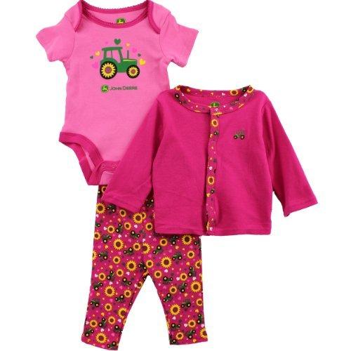 John Deere Infant Pink 3 Pc Layette Set Fn027P (6M)