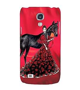 PrintVisa Fashion Horse Girl Dress Design 3D Hard Polycarbonate Designer Back Case Cover for Samsung Galaxy S4