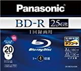 Panasonic ブルーレイディスク 録画用4倍速 25GB(単層 追記型) 20枚パック LM-BR25LH20N