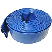 """1 1/2"""" X 50' Heavy Duty Lay Flat Pool Discharge & Backwash Hose For Pumps And Water Transfer Applications"""