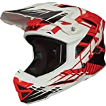 Fly Racing Default Youth Full Face Bike Race BMX Helmet - Red/White / Large