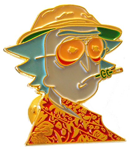 [New Hunter S. Thompson Colorful Tweaked Lapel Pin Fear and Loathing] (Fear In Loathing In Las Vegas Costume)