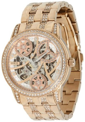GUESS Women's Elegant Automatic Watch - Rose Gold