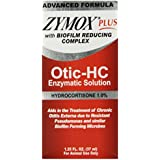Pet King Brands Zymox Plus Otic-HC Enzymatic Ear Care Solution, 1.25-Ounce