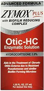 Pet King Brands Zymox Plus Otic-HC Enzymatic Ear Care Solution, 1.25-Ounce