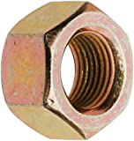 Steel Hex Nut, Zinc Yellow-Chromate Plated Finish, Grade 8, Right Hand Threads, Inch