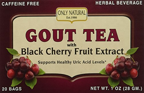 Only Natural Gout Tea Black Cherry Fruit Extract Bags, 20 Count (Extracts Cherry compare prices)