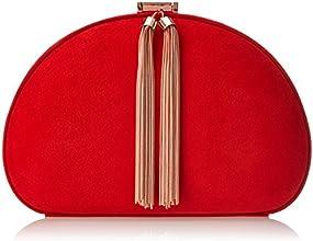 Ted Baker Round Tassel Zip Clutch Evening Bag,Tangerine,One Size