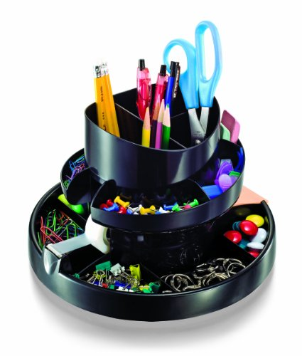 Officemate Deluxe Rotary Organzier, Recycled, Black (26255)