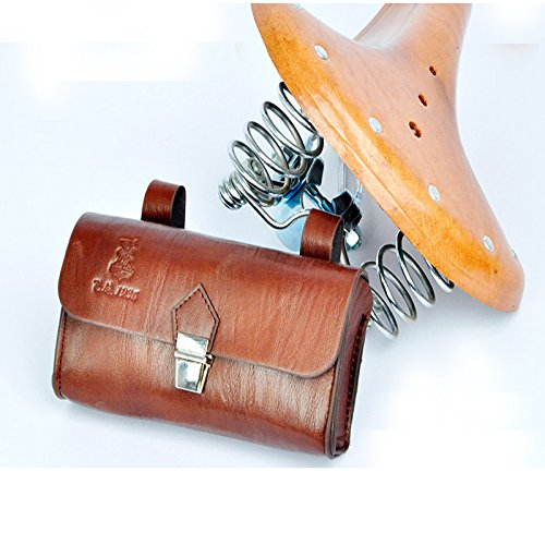 OLizee™ Vintage Style PU Leather Bike Saddle Bag Seat Bag Tail Pouch 2