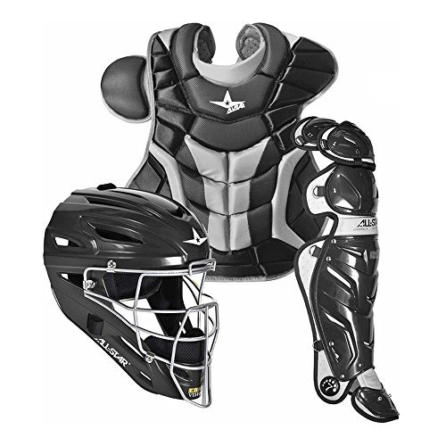 All Star System7 CKPRO1 Professional College Catchers Gear Set S7 AS Black ADULT 15+ (Adult Catcher Gear compare prices)